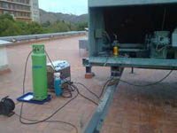 Cleaning of the refrigeration circuit